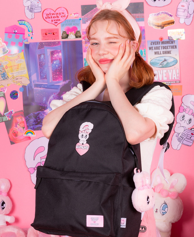 ★NEW COLLABORATION★デイライフ♥エスダバニー BIG HEART DAY BACKPACK(BLACK)_謝恩品贈呈💝